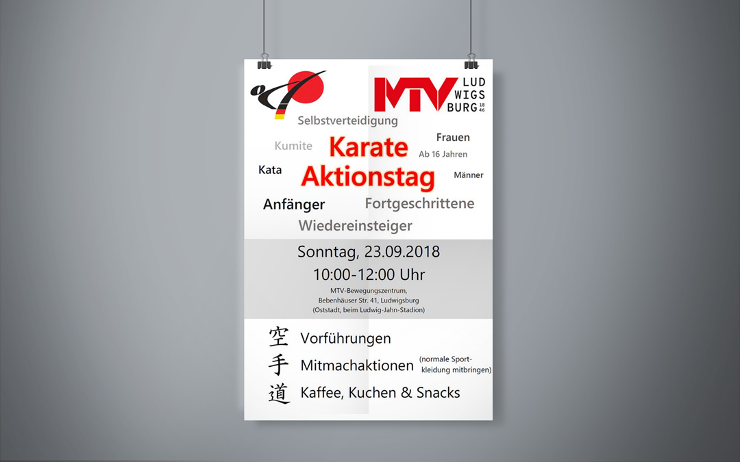 Karate-Aktionstag am 23.09.2018