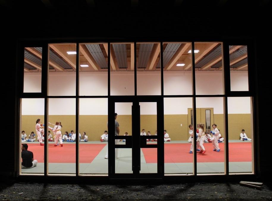 20181107 Sportbetrieb im Bewegungszntrum II gestartet - Karate