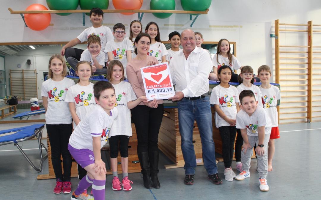 20190130 Spendenaktion Helferherz - Kindersportschule KiSS