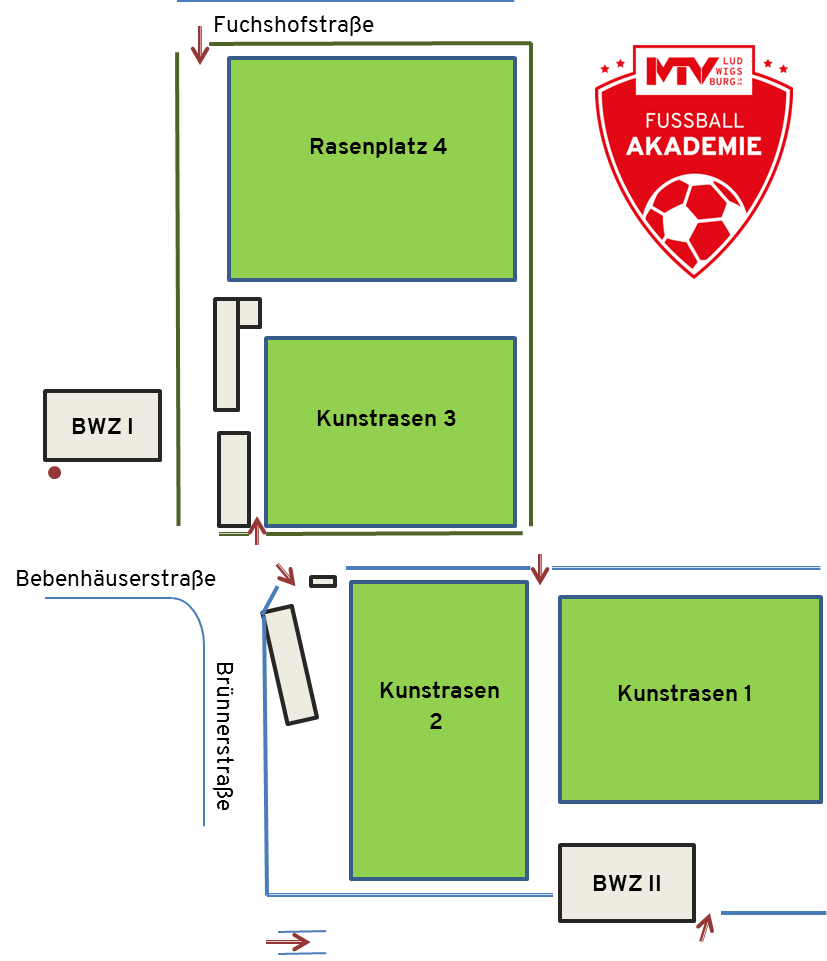 Fußball Plätze - Fußball-Akademie
