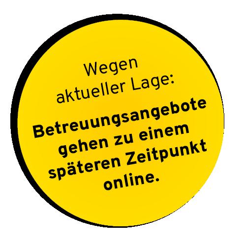 gelber button betreuungsangebote - Betreuungsangebote