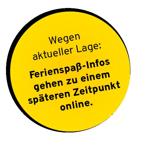 gelber button ferienspass - Ferienspaß