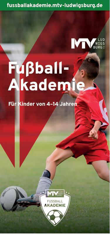 Titel Flyer Fussballakademie - Magazine & Flyer