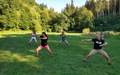 Karate Sommerlager Langenau Kata auf der Wiese 400x250 - Karate