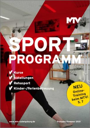 Titel Sportprogramm 1 2021 - Magazine & Flyer