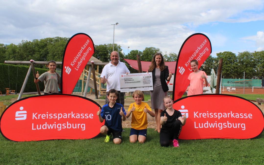 Kreissparkasse Ludwigsburg spendet für die Bewegungsförderung von Kindern